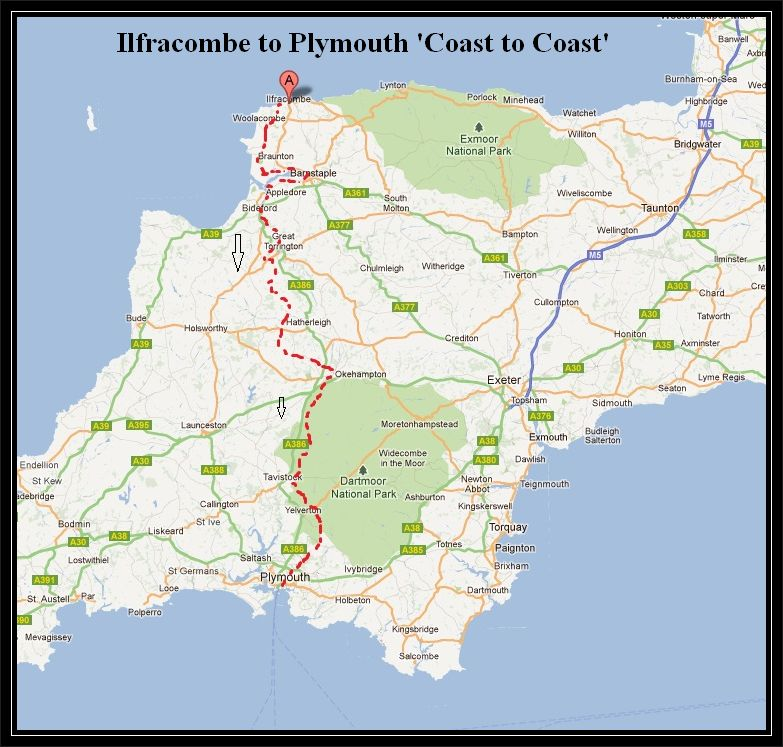 Image result for devon coast2coast route image