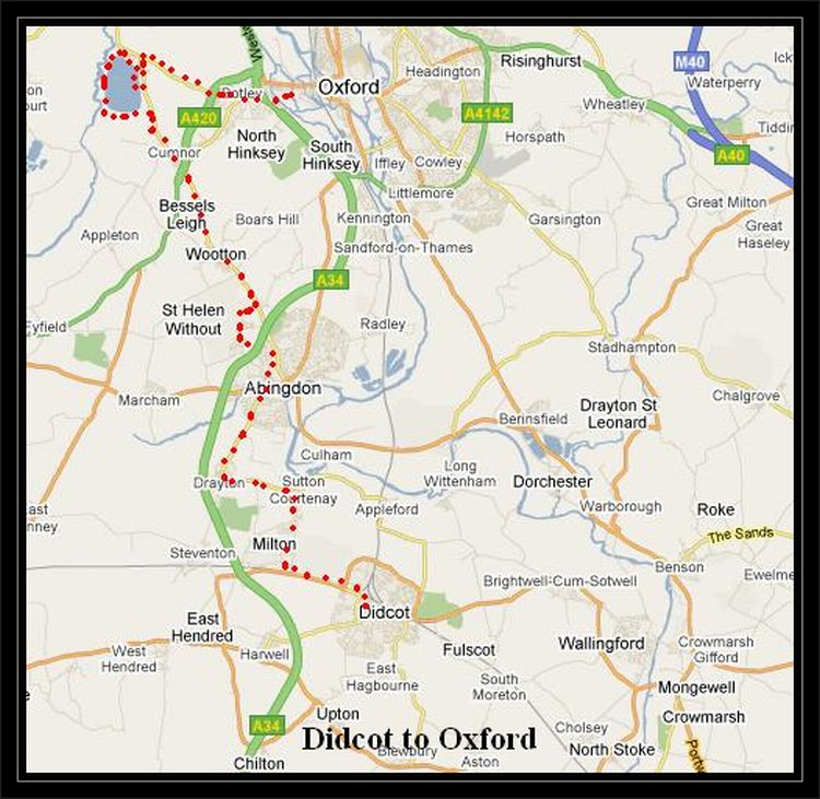 Didcot to Oxford Cycle Routes UK