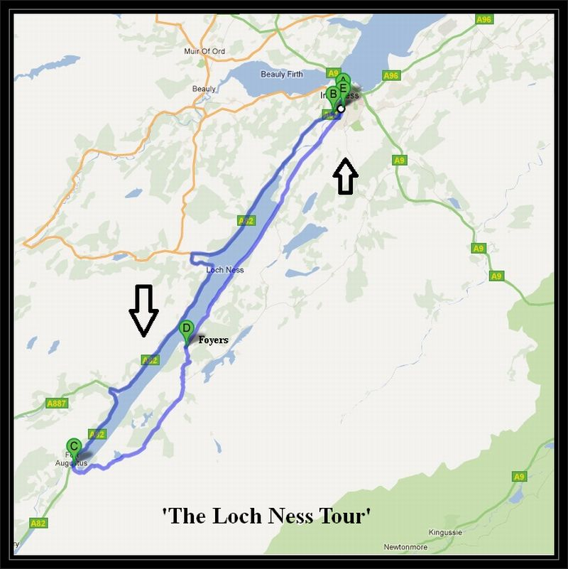 Loch Ness Inverness to The Loch Ness Tour Cycle Routes UK