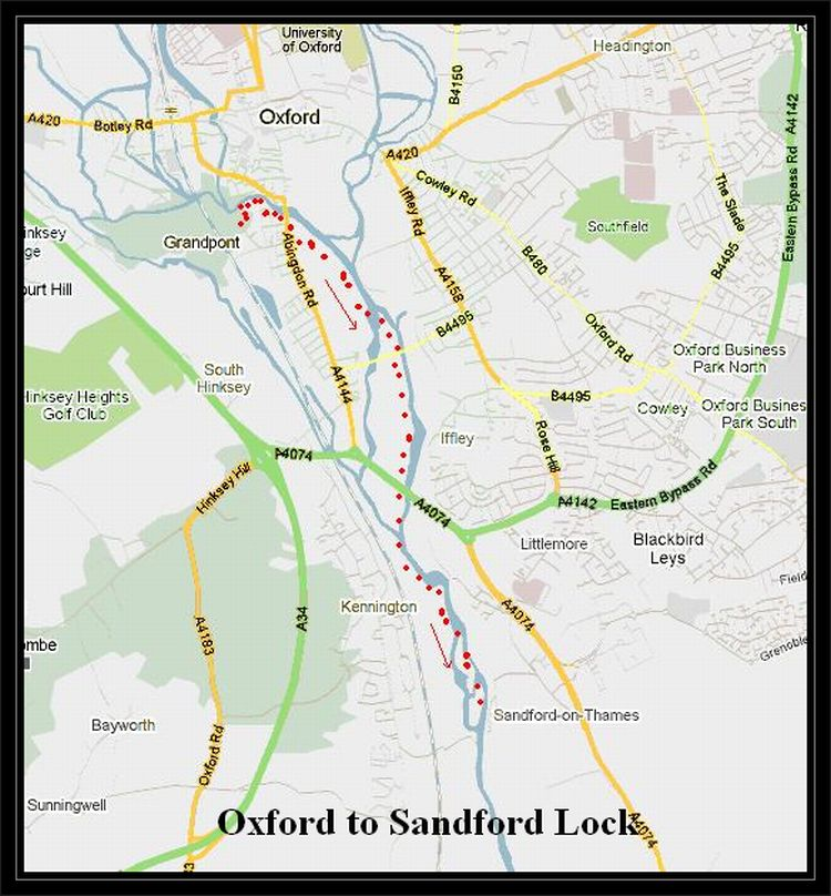 Oxford to Sandford Lock Cycle Routes UK