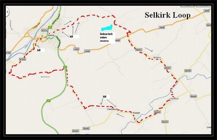Selkirk Loop to via Midlem Lilliesleaf | Cycle Routes UK