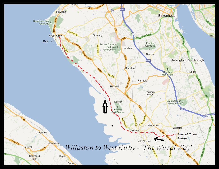 Willaston to West Kirby The Wirral way Cycle Routes UK